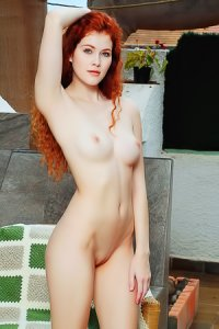 Slim Red-haired Babe Adel C
